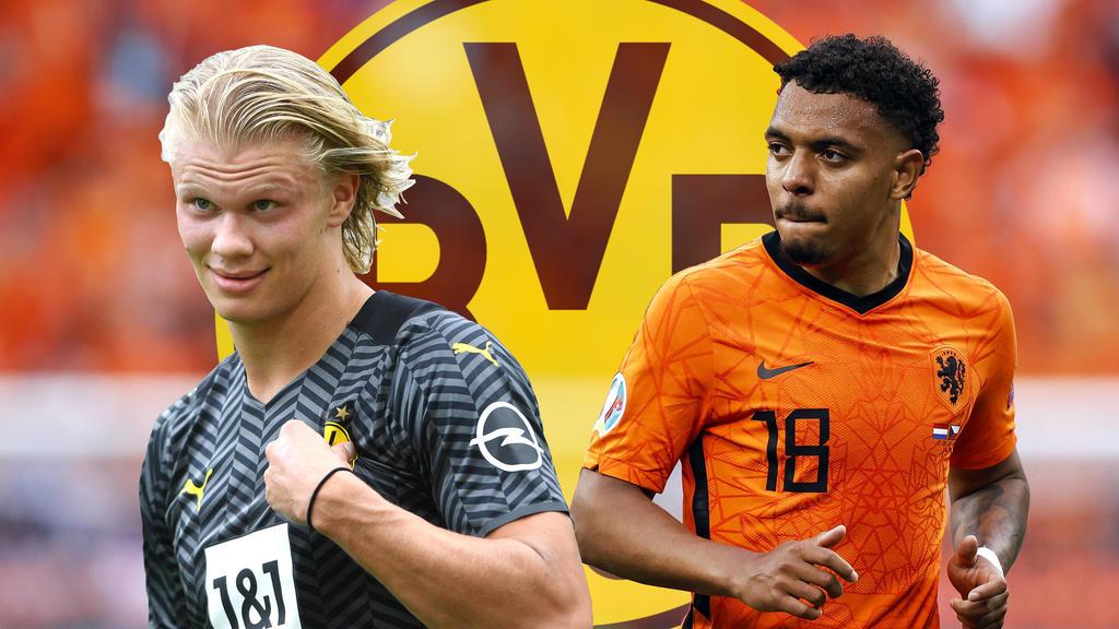 Stürmen Erling Haaland (l.) und Donyell Malen beim BVB Seite an Seite?