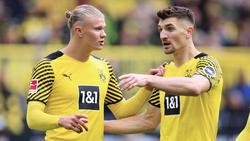 Thomas Meunier (r.), hier mit BVB-Knipser Erling Haaland