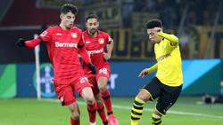 Kai Havertz von Bayer Leverkusen und Jadon Sancho vom BVB sind eigentlich Wechsel-Kandidaten für die kommende Transferperiode