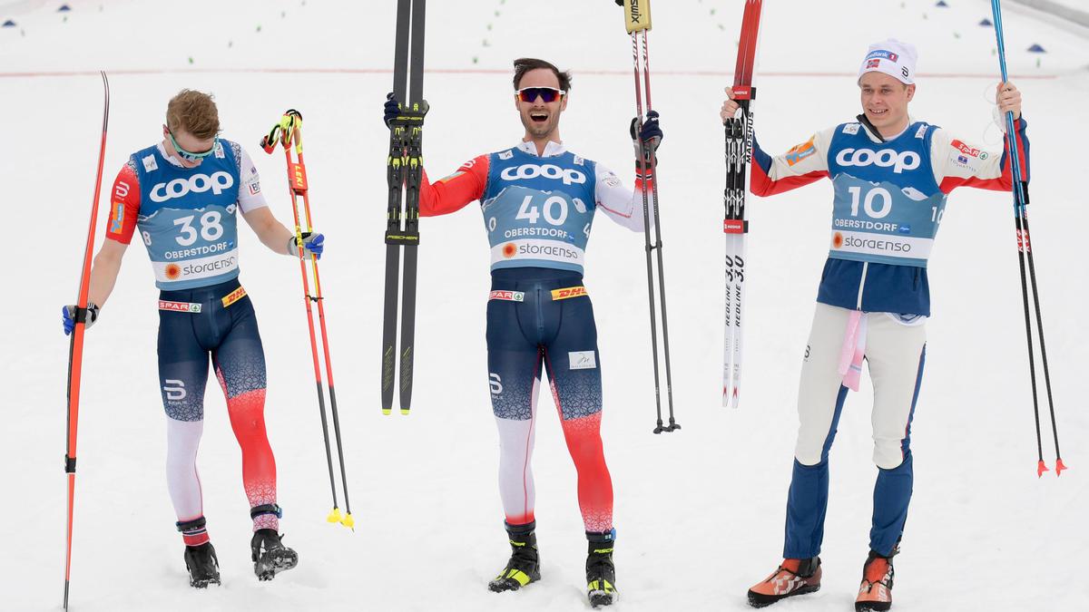 Die norwegischen Langlauf-Stars feierten einen Dreifach-Erfolg