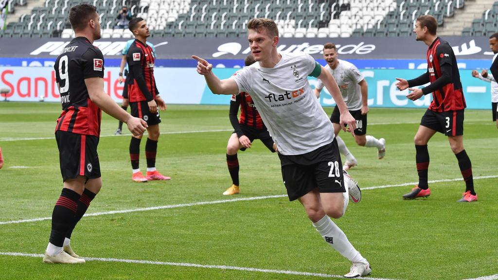Gladbach setzte sich gegen Eintracht Frankfurt durch