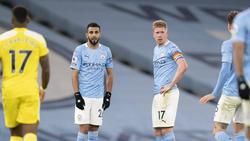 Riyad Mahrez (l.) von Manchester City im BVB-Fokus?