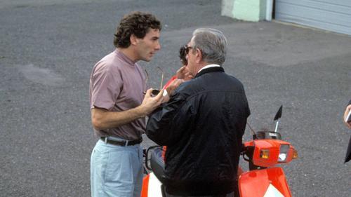 Ayrton Senna und Jean-Marie Balestre (re.) waren sich nicht immer grün
