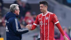 Jupp Heynckes (l.) hat sowohl mit Robert Lewandowski (hier im Jahr 2018) als auch mit Gerd Müller eine gemeinsame Vergangenheit