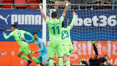 El primer gol de Mayoral con el Levante le salvó un punto a los valencianos. (Foto: Imago)