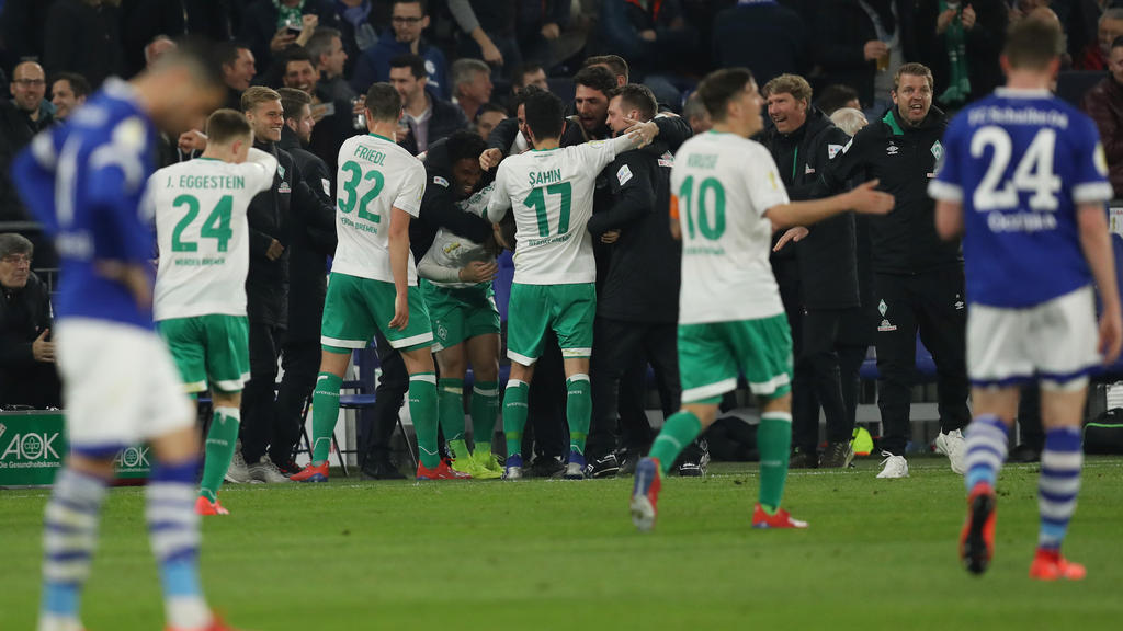 Werder Bremen setzte sich im Pokal gegen Schalke 04 durch