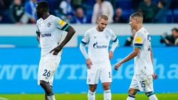 Ratlose Gesichter bei den Schalke-Stars nach dem 0:2 in Hoffenheim