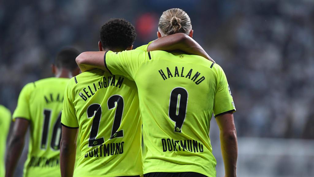 Hätten auch zu Juventus gehen können: Die BVB-Stars Bellingham und Haaland