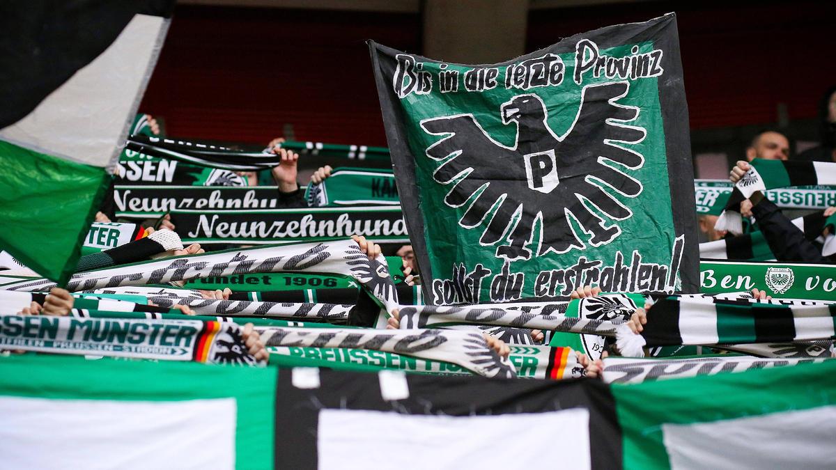 Die Preußen-Fans setzten ein tolles Zeichen gegen Rassismus