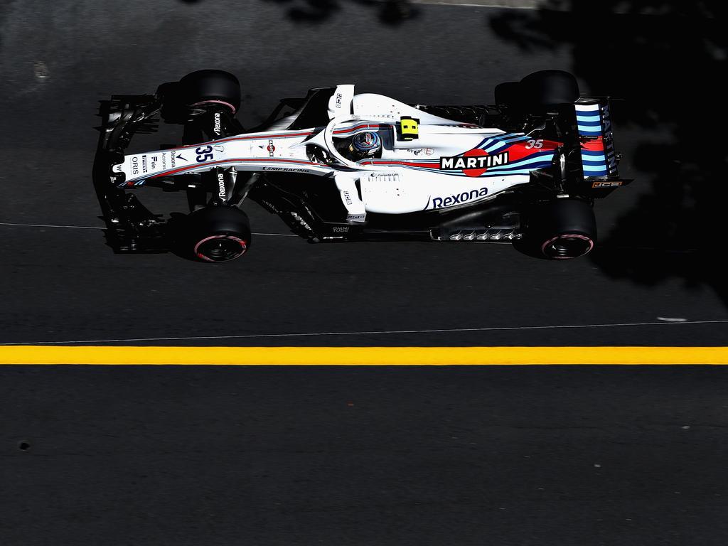 Reifenschaden: Lance Stroll humpelt mit seinem Williams-Boliden an die Box