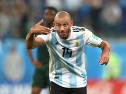 Javier Mascherano ist der Anführer der Argentinier