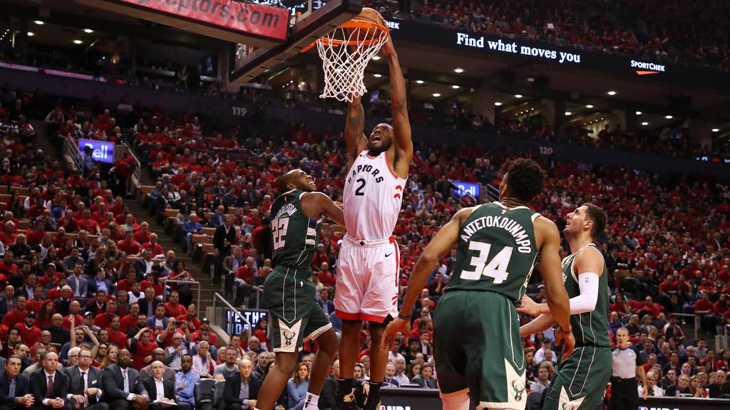 Kawhi Leonard und die Raptors haben in der Serie gegen die Bucks ausgeglichen