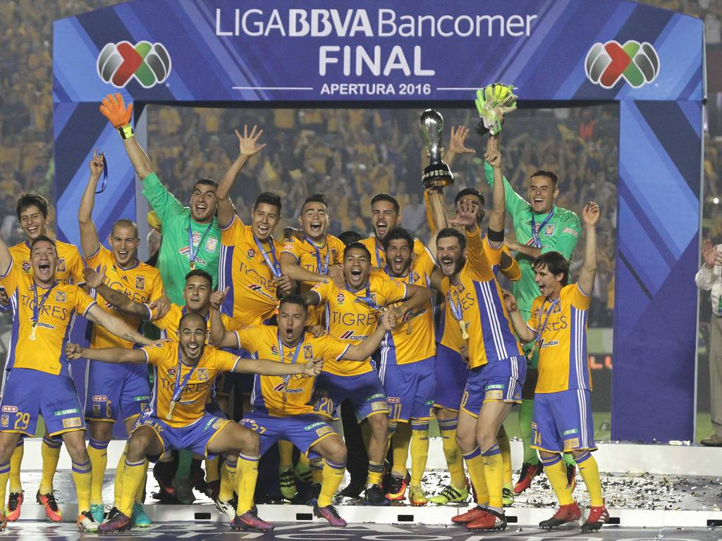 Los Tigres celebran su quinto título de campeones. (Foto: Imago)