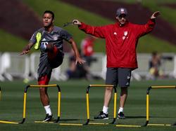 Thiago entrenándose con el Bayern. (Foto: Getty)