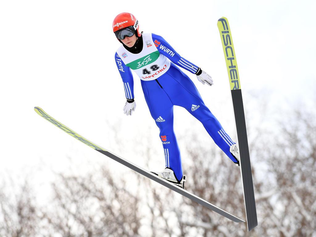 Carina Vogt flog auf den dritten Platz