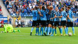 Viel Grund zum Jubeln für Waldhof Mannheim: Erstes Heimtor und erster Sieg in der 3. Liga