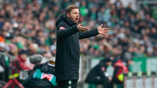 Florian Kohfeldt kassierte mit Werder Bremen eine empfindliche Niederlage