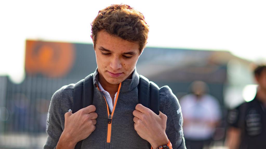 Lando Norris geht für McLaren an den Start