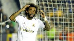 Marcelo en el encuentro frente al Levante.