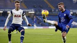 Timo Werner (r.) blieb gegen Tottenham am Sonntag blass