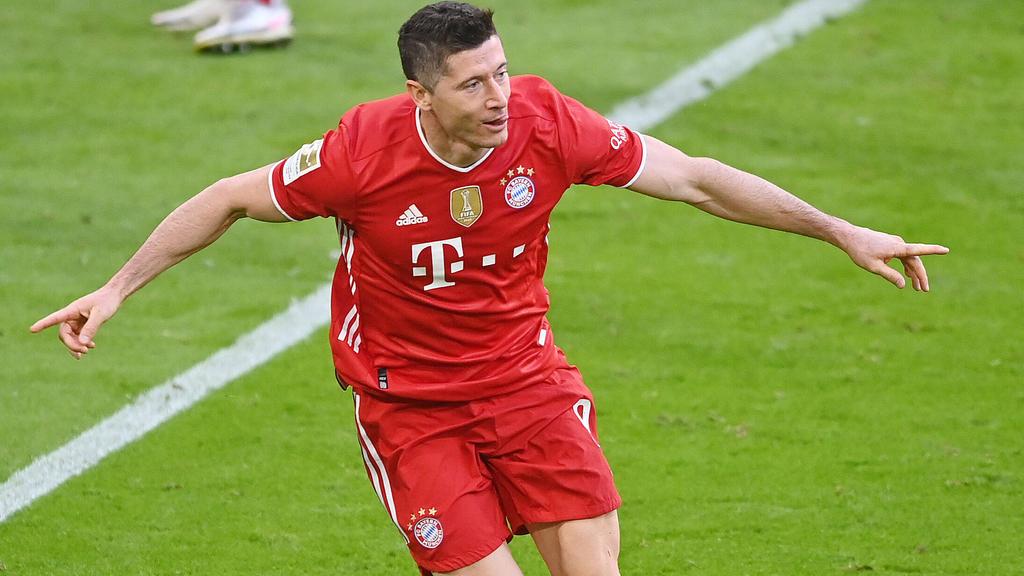 Robert Lewandowski vom FC Bayern kann Geschichte schreiben