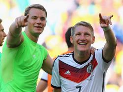 Neuer y Bastian, compañeros y amigos. (Foto: Getty)