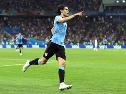 Edinson Cavani schoss Uruguay zum Sieg