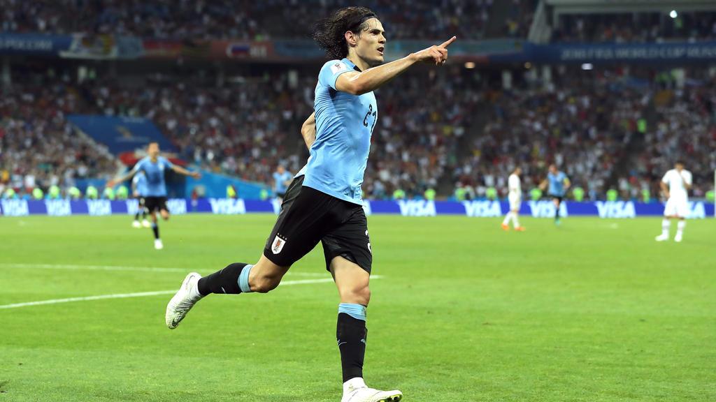 Cavani schießt Uruguay zur 2:1-Führung