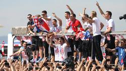 Die Fans feiern mit der kroatischen Nationalmannschaft