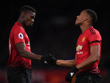 Pogba y Martial son compañeros en el United. (Foto: Getty)