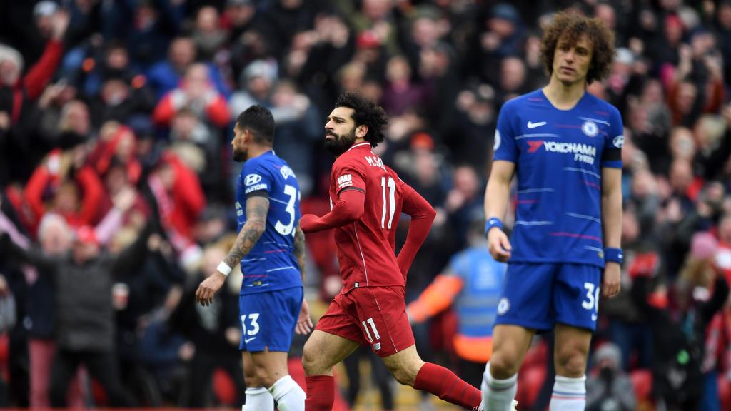 Mo Salah traf für den FC Liverpool zum 2:0 gegen Chelsea