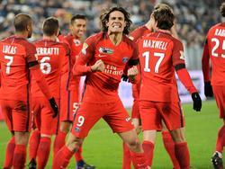 Paris-Stürmer Edinson Cavani traf in dieser Saison bereits 20 Mal