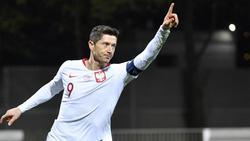 Auch im Nationalteam in Topform: Polens Robert Lewandowski vom FC Bayern