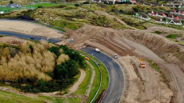 Die Luydendyk-Kurve in Zandvoort wird derzeit zur Steilkurve umgebaut
