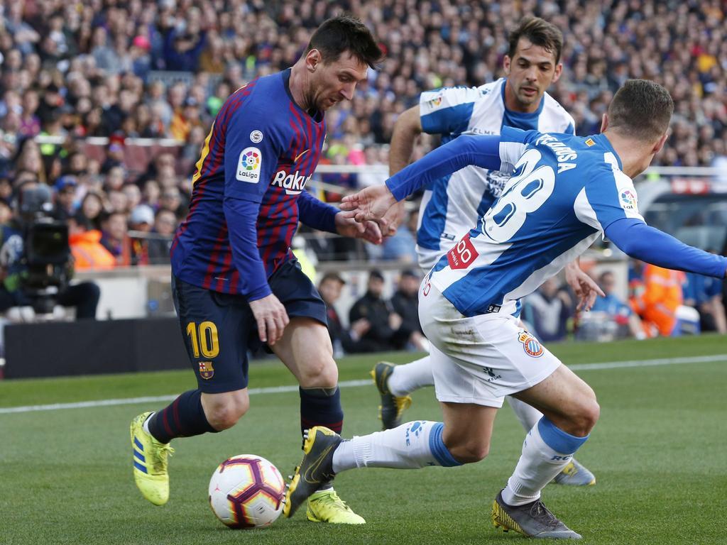 Messi im Barcelona-Derby gegen Espanyol
