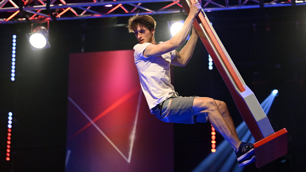 Moritz Hans will auch in dieser Staffel wieder ins Ninja-Warrior-Finale