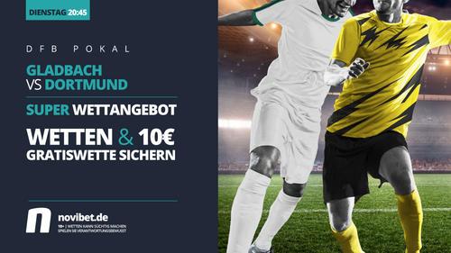 Gladbach empfängt den BVB im Rahmen des DFB-Pokals