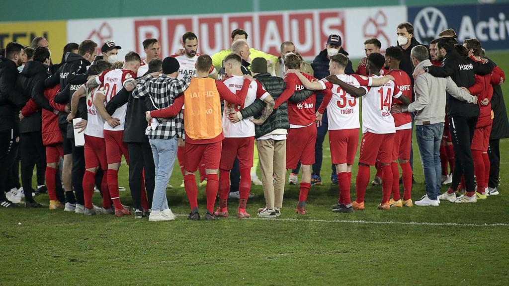 Die Essener nach dem Pokal-Aus gegen Kiel