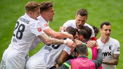 Der FC Augsburg bejubelte den Klassenerhalt