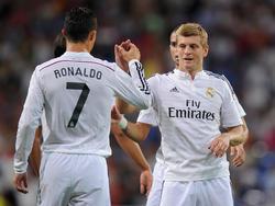 Cristiano Ronaldo y Toni Kroos entran en las rotaciones de Zidane. (Foto: Getty)