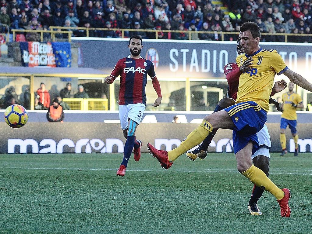 Mario Mandzukic traf für Juve zum zwischenzeitlichen 2:0