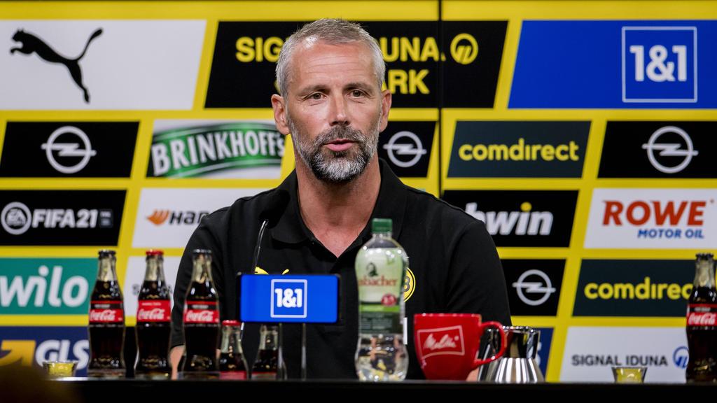 BVB-Trainer Marco Rose stand Rede und Antwort