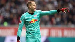 Péter Gulácsi hütet das Tor von RB Leipzig