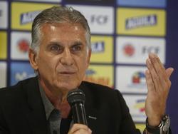 Carlos Queiroz en una aparición reciente en rueda de prensa.