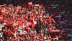 Die dänischen Fans hoffen weiter auf das Achtelfinale