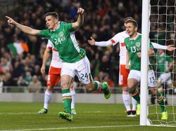 Ciaran Clark trifft im Länderspiel der Iren gegen die Schweiz bereits nach zwei Minuten zum 1:0