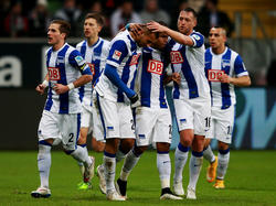 Die Hertha feiert die Führung