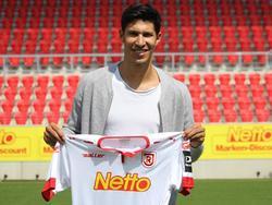 Marcel Correia unterschrieb in Regensburg bis 2020 (Bildquelle: Twitter)
