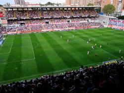 Das Rayo-Stadion Campo de Vallecas mitten in Madrid wird umgebaut. © Getty Images/Denis Doyle