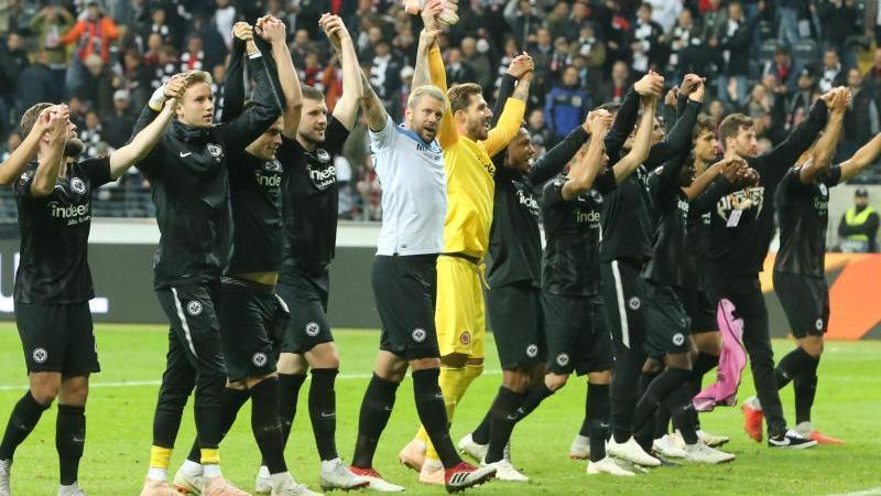Eintracht Frankfurt feierte einen erfolgreichen Abend